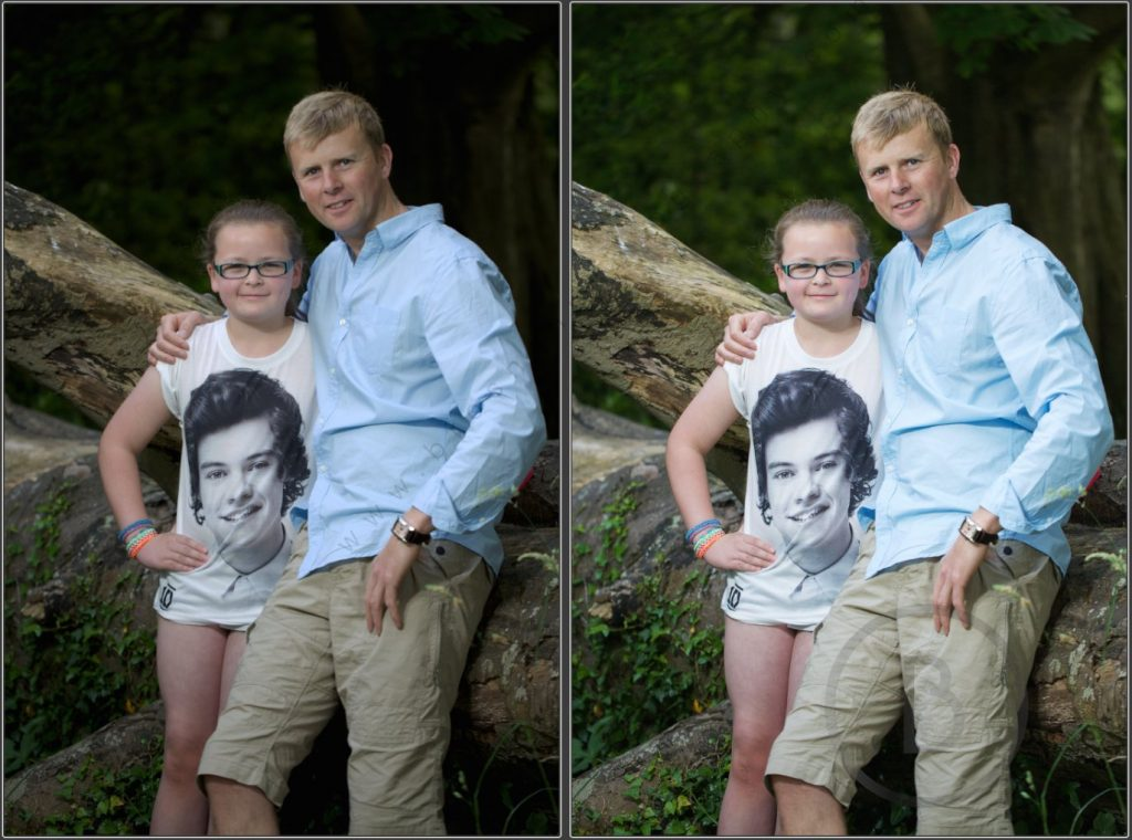 Portrait Before vs After processing the photo - Brosnan Photography