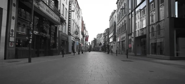 Covid-19 – Dublin City – empty streets video 2020